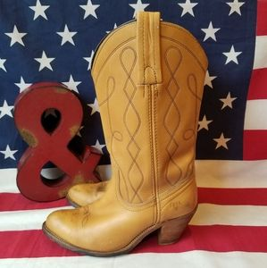 Frye Western Leather Cowgirl Boots Size 8